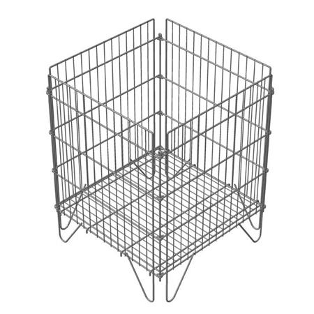 Корзина-накопитель разборная КР01 для магазина супермаркета купить недорого