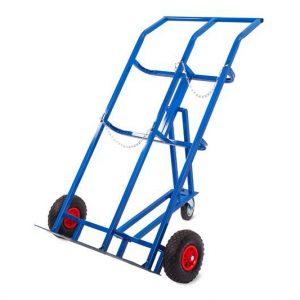 Тележка для баллонов пропан + кислород TOR ТГК-П, 2 баллона (250 колеса + 160 поворотное) купить недорого с доставкой