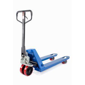 Тележка гидравлическая 2500 кг 1150х450 мм TOR RHP узковильная (полиуретановые колеса) купить недорого с доставкой